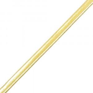 Tira de Couro, 04mm, Dourado