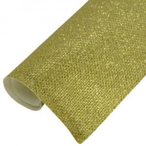 Lonita Glitter Rendado, Tule, Amarelo Dourado