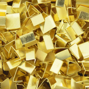 Terminal de Amassar, 10mm, Ouro
