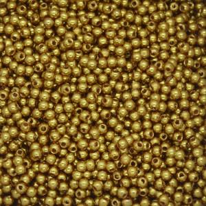 Pérola ABS, 03mm, Amarelo Dourado