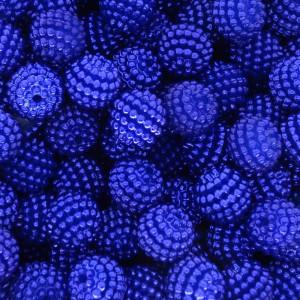 Pérola Craquelada Amora, 10mm, Azul Royal