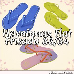 Sandálias Havaianas Flat, 33/34, Frisado para Fio de Strass