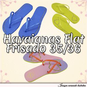 Sandálias Havaianas Flat, 35/36, Frisado para Fio de Strass