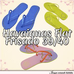 Sandálias Havaianas Flat, 39/40, Frisado para Fio de Strass