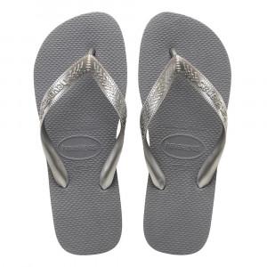 Sandálias Havaianas Top, Cinza Aço