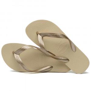 Sandálias Havaianas Color Mix, Areia/Dourado Claro