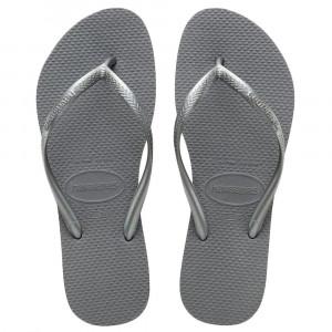 Sandálias Havaianas Slim, Cinza Aço