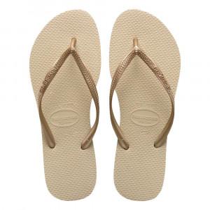 Sandálias Havaianas Slim, Areia/Dourado Claro