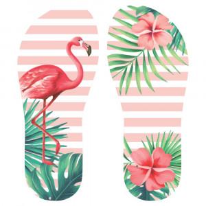 Lonita Sublimada, Flamingo, Rosa/Verde/Branco