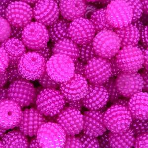 Pérola Craquelada Amora, 10mm, Rosa Pink