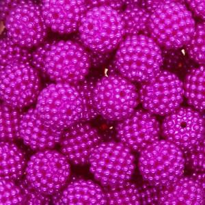 Pérola Craquelada Amora, 12mm, Rosa Pink